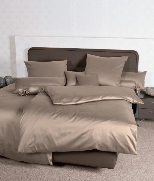 Bettwäsche Maco - Satin einfarbig uni - taupe