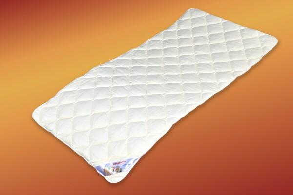 Kinderbett - Matratzen-Auflage natur 100 % Baumwolle