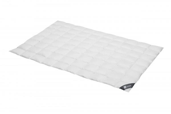 Sommer-DaunenSteppbett 8 x 10 Kassette silber - extra leicht