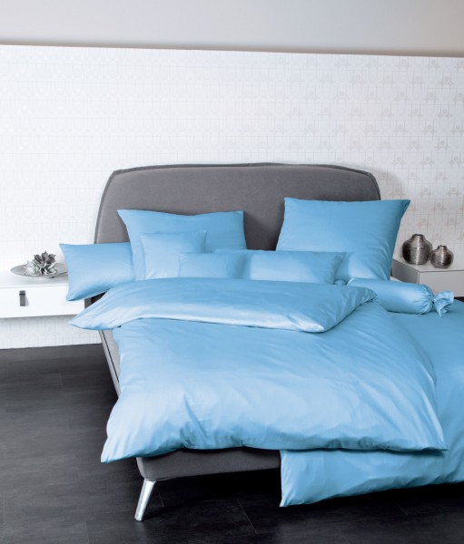 Bettwäsche Maco - Satin einfarbig uni - hellblau