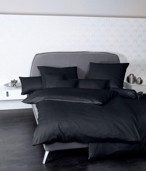 Bettwäsche Maco - Satin einfarbig uni - schwarz