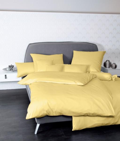 Bettwäsche Maco - Satin einfarbig uni - gelb