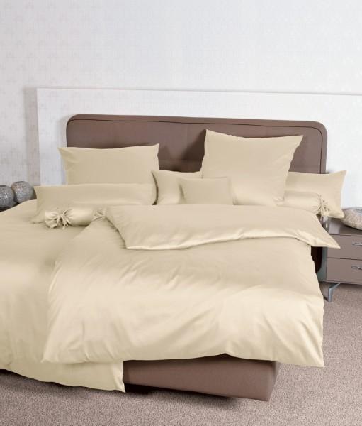 Bettwäsche Maco - Satin einfarbig uni - sand