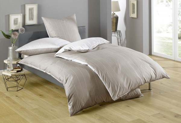 Bettwäsche Maco - Satin Wende Farbe beige