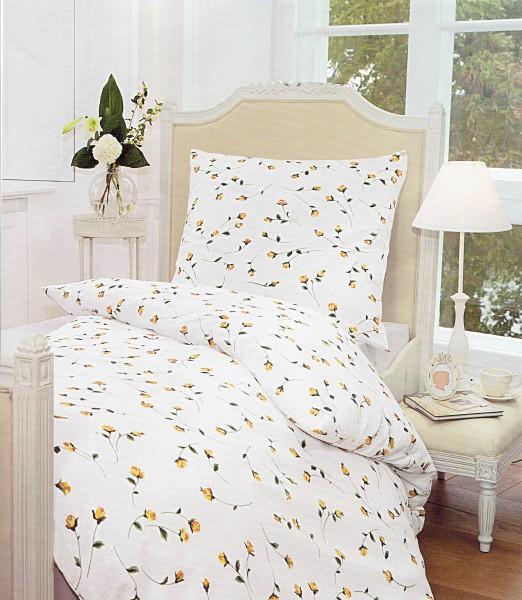 Bettwäsche Maco Soft - Seersucker rosen gelb