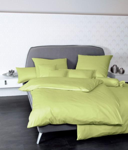 Bettwäsche Maco - Satin einfarbig uni - apfelgrün